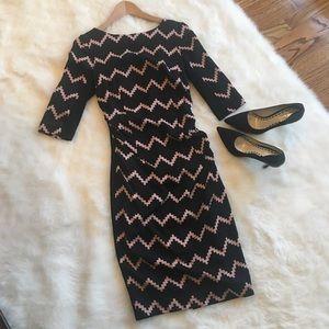 Tracy Reese Chevron Print Dress